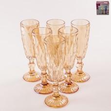 923-48 Набор бокалов для шампанского 180мл. 6шт. Золото