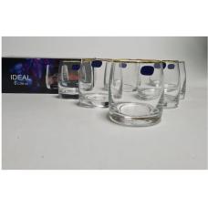 25015/20787/290 Набор стаканов для виски 290мл. 6шт. Идеал отводка золото