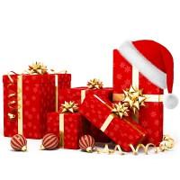 Новогодняя упаковка (пакеты, карзины, органза)