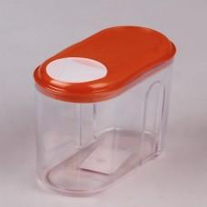 4312506/19 Емкость д/сыпучих продуктов с дозатором/микс 2: оранжевый зеленый/ 0,75л/155x80x105
