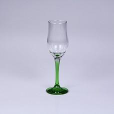 PSB44160SLBD8 Бокал для шампанского 200 мл. (зеленая ножка) ЭНЖОЙ Зеленый