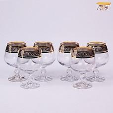 40149/43249/250 Набор бокалов для бренди 250 мл. 6 шт. Клаудия Панто Платина