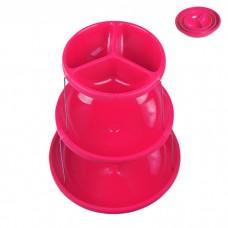 IM99-1435/розовый Этажерка складная 3х ур для снэков 18*23*28см розовый