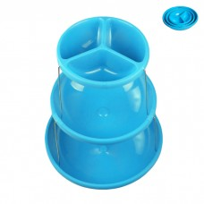 IM99-1435/голубой Этажерка складная 3х ур для снэков 18*23*28см Голубой