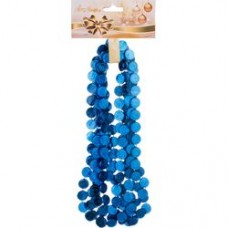 224-041 Бусы 2,7 м. Гирлянда символы синий
