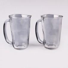 IM99-5748/серебристый Набор кружек стеклянных 2шт 430мл