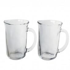 IM99-5747/серебристый Набор кружек стеклянных 2шт 375 мл