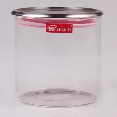 ТА09-0001 Банка для сыпучих продуктов, с мет. крышкой 550мл Прозрачный