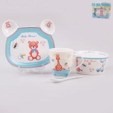 ТА30-0001 Н-р детской посуды 4пр Мишки