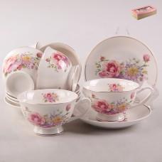 ТА26-0025 Набор чайный 12пр. Яркий букет