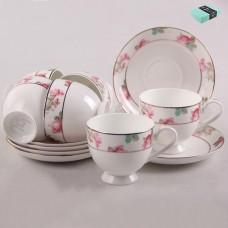 ТА26-0031 Набор чайный 12пр. Розовый цветок