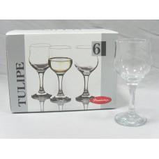 PSB 44167 Набор бокалов для вина 200 мл. 6 шт. Тулип Прозрачный