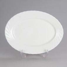 09392 Блюдо овальное 29см Трианон Белый