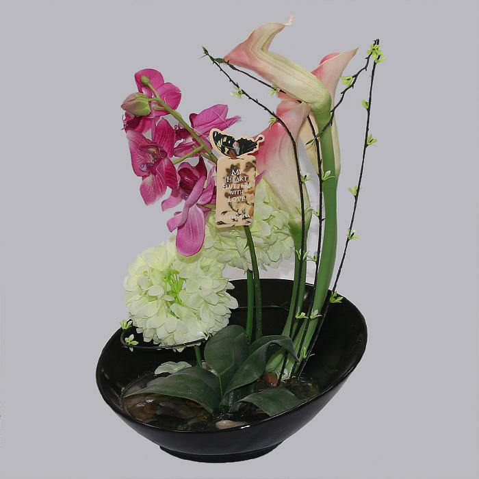 Экибана своими руками из живых цветов 29